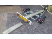 motorbike trailer with spare wheel