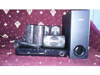 5.1 Surround sound system with dvd player has hdmi port and usb port.