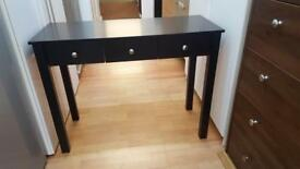 Osaka 3 Drawer Dressing Table- Black