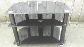 Television glass shelved stand