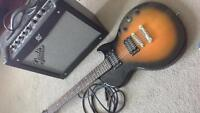 Fender Mustang I Amp + Epiphone Les Paul Special II Electric G..
