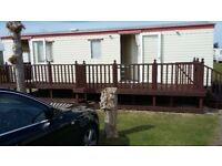 Holiday caravan 6 berth on golden palm resort chapel st leonards skegness 1 double bed 1 twin beds