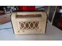 VINTAGE HMV MARCONI BAKELITE WOODEN DESIGNED FOR 1948 LONDON OLYMPICS VALVE MAINS TABLETOP RADIO GWO