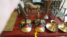 Selection of brass ornaments