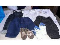 Bundle boys clothes & shoes 0-3 months