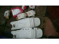 Mens left hand batting pads and gloves