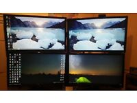 4 x Benq G2420HDBL 24'' monitors, support arm and graphics card