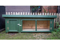New Rabbit / Guinea Pig Hutch: fantastic top quality, heavy duty, NOT plywood
