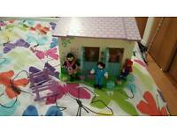 ELC horses stable, figures and accessories.