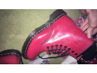 Selling my red patent Dr Martins, size 3 worn once, no box