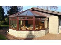 Large uPVC Mahogany Wood Grain Effect Conservatory - Offers Invited - Need to Sell Quick