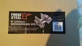 """*£10* 8"""" Forge Steel Woodworking Vice"""