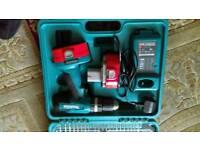 Makita cordless drill kit.
