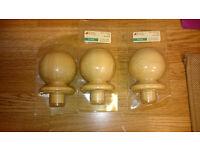 3 x Richard Burbridge Pine Ball Newell Caps