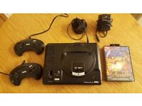 Sega Mega Drive Mk1 + 2 controller and Aladdin game! Fully working! Vintage