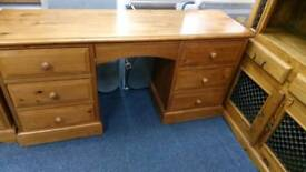 Pine 7 drawer dressing table/ desk