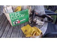 Stihl o20 av petrol chainsaw spares repair