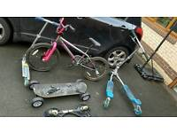 Bmx and skate boards