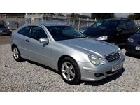 Mercedes Benz C CLASS 1796cc Petrol Coupe Automatic Silver 2005 (05) Full Mot
