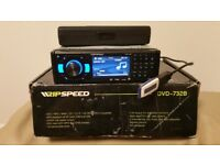 CAR DVD MP3 CD PLAYER RIPSPEED WITH 3.5 INCH SCREEN USB AUX SD 4 X 45 WATT AMPLIFIER STEREO