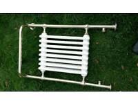 Radiator towel warmer brass