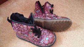 Girls toddler boots Similar to Doc marten boots size 8, next size 6, jones size 8 collect cheltenham