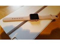 Apple Watch series 1, Rose-Gold Silicone band