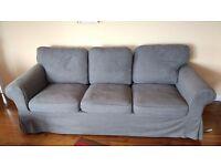 3 + 2 grey sofa IKEA