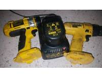 Dewalt 12 volt drills x 2.with battery