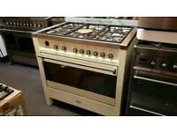 90cm smeg range cooker dual fuel cooker