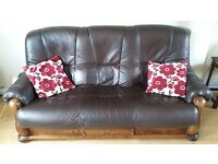 Antique style leather sofa