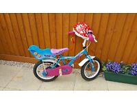 Apollo girl's bike! Size 14'' + new Minnie Mouse helmet!