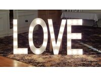 LOVE LETTERS TO LIGHT UP YOUR WEDDING RECEPTION BARGAIN
