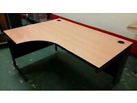 Office Desk 160x120x72 Left Hand Side Corner Perfect condition free delivery in Warrington