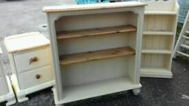 BOOKCASE SHELVES SOLID PINE SHABBY CHIC ANNIE SLOAN OLD OCHRE VGC