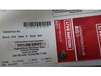 Taylor Swift Ticket for Sale - Manchester 9th June