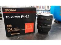 Sigma sld dc 10-20mm lens