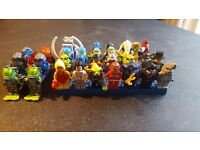 32 assorted lego minifigures