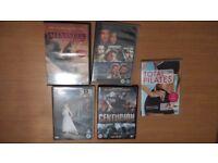DVDs - 50 p each (Centurion, Pilates, Braveheart, Alexander)