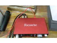 Scarlett recording interface (focusrite)