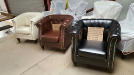 SUMMER Sale Faux Leather Tub Chair Armchair club Chair for Dining Living Room & Cafe £110