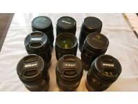 9 x Nikon AF D 35-70mm f/2.8 D AF Lens bundle Joblot spare repairs bundle FREE uk delivery