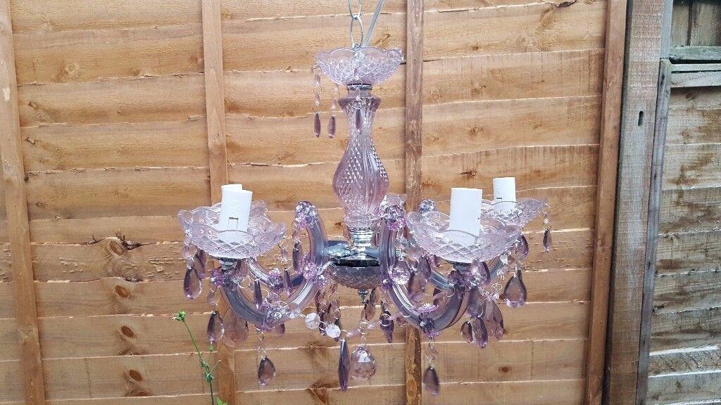 Job lot 5 bulb Chandelier Crystal Effect Ceiling Light ..£59 online