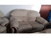 2 sofas and swivel armchair