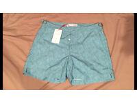 "BNWT Orlebar Brown Setter Palm Print Swimming Shorts 30 Waist ""Splash II"" colour"