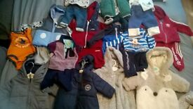 baby boy clothes, tracksuits nike, adidas, mckenzie, ted baker, jeans, jumpers etc and free gift