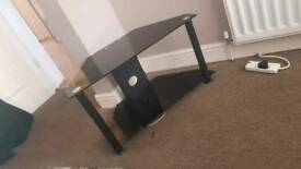 Glass black tv stand perfect condition