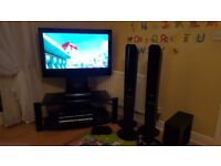"""TV HD ready 37"""" with blu-ray, cinema and glass unit"""