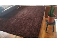 Extra Large Dark Brown Shaggy Soft Area Rug