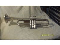 "TRUMPET in SILVER PLATE made in GERMANY , "" WELTKLANG "" SILVER in GOOD CONDITION."